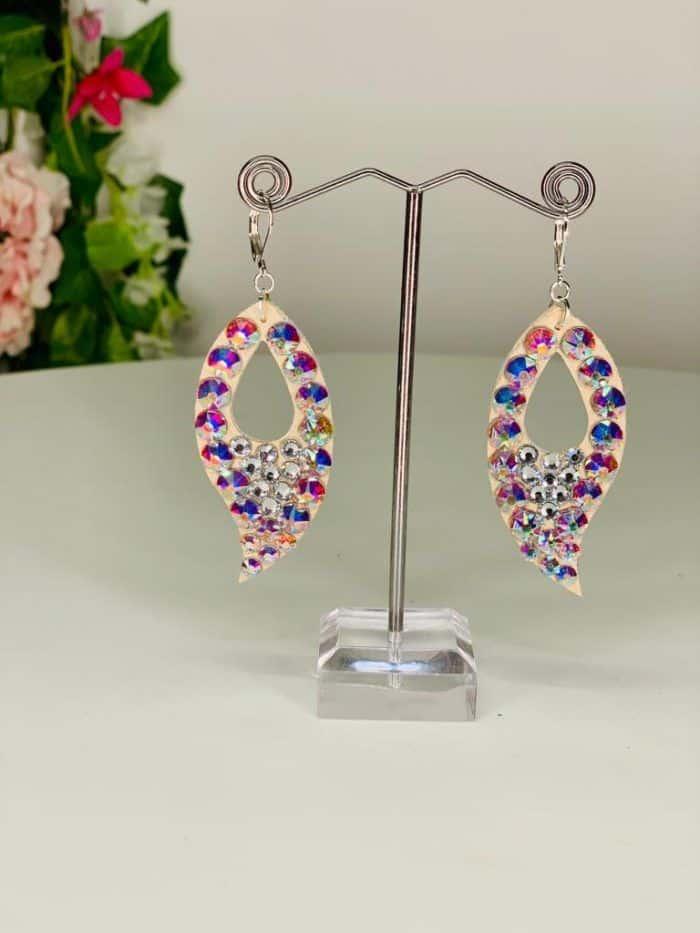 Fire shape earrings