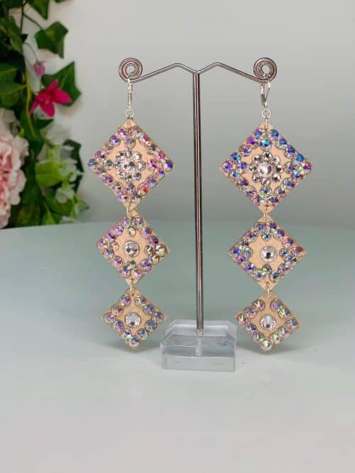 Diamond shape earrings - Lightweight Collection for belly dance