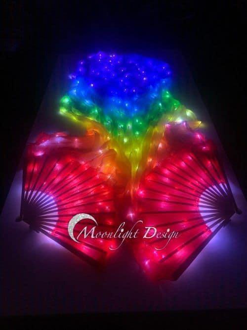 Led Fan Veil - Rainbow | Fan With Light | Moonlight Design