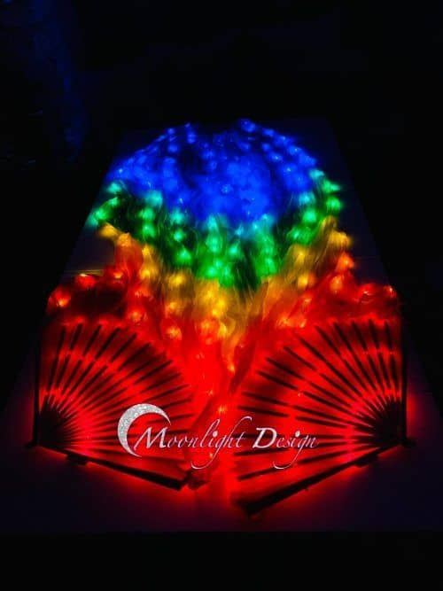 Led Fan Veil - Rainbow (with rainbow led) | Moonlight Design